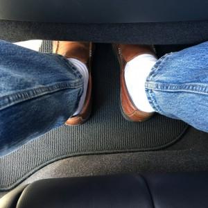 Mirai - rear foot room