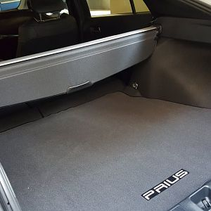 2016 Prius floor hatch area with spare