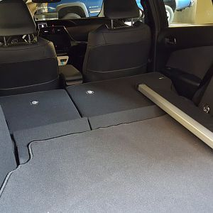 2016 Prius 4 cargo area with spare