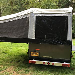 Tent Trailer Rear View