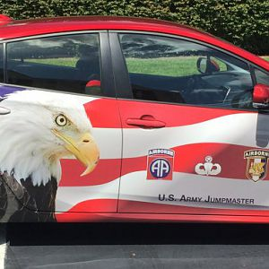 2016 Prius Touring with 82nd and 325 Infantry Patriotic Wrap