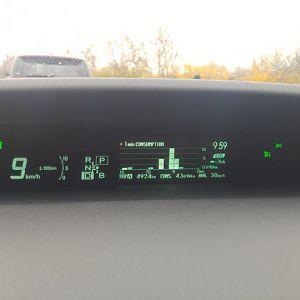 Morning traffic jam, those hybrids doesn't mind :)