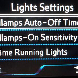 Light Settings