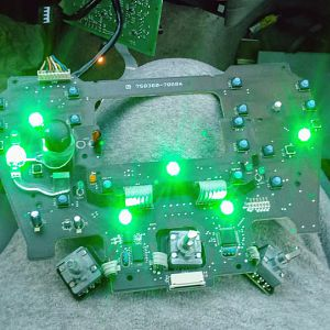 Center dash circuit board lit