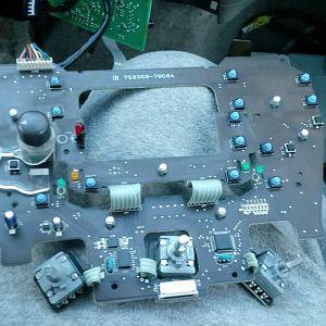 Center dash circuit board unlit