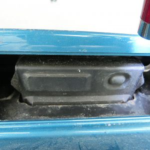 Rear hatch without plastic cover