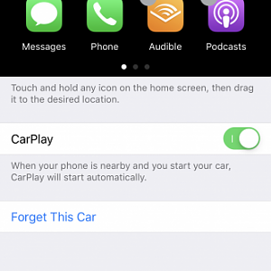 CarPlay text size