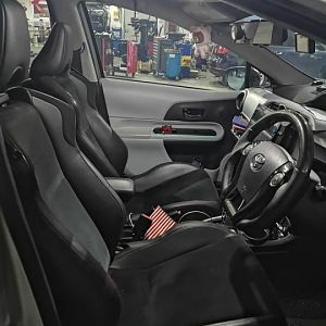 BRZ/FRS/86 Seats on Prius C/Aqua NHP10