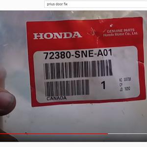 Door Check Honda Part