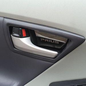 Door handle wish, silver, mirror-like