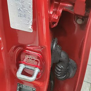 Lock cover in the door frame, red Pic 2