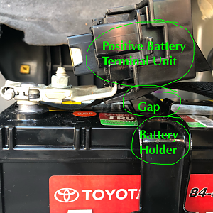Prius Battery Holder and Positive Terminal