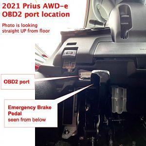 2021 Prius OBD2 Port Location