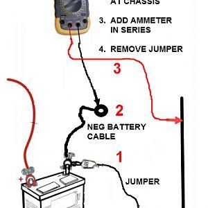 Prius V Series Ammeter Setup