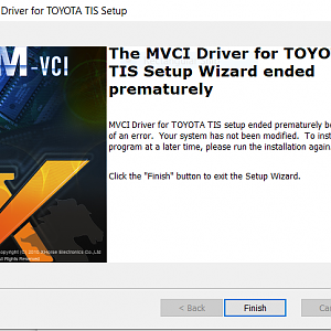 VCI Driver Wont Install