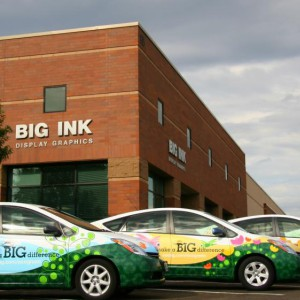 BIG INK Display Graphics Prius Eco Wrap