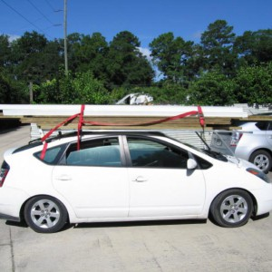 The roof rack on my practicle prius