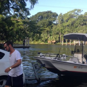 Prius Towing Boat (14' Boston Whaler 70hp Johnson)