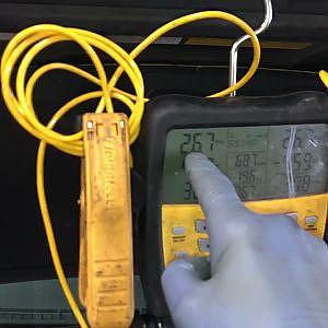 @ 42 PSI vapor refrigerant it runs
